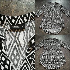 Schwarz-weiße Bluse Gr. 36
