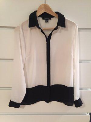schwarz/weiße Bluse in 38