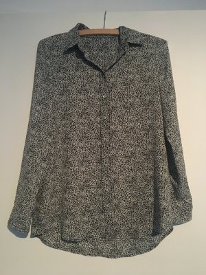 Schwarz-weiße Bluse, Mango, XS