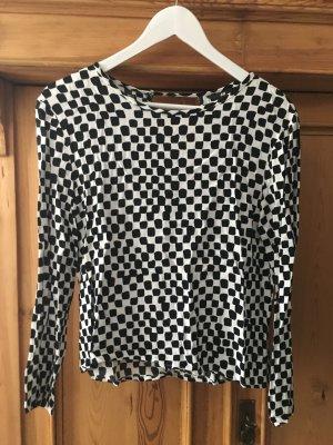 Schwarz-weiße Bluse mit 3/4 Ärmeln von H&M in Gr.M