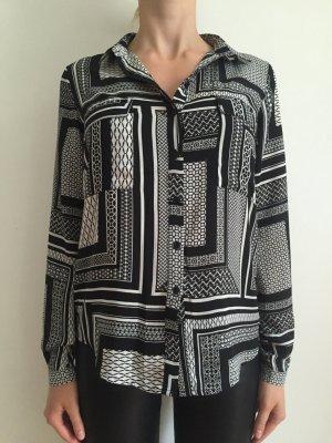 Schwarz-Weiße Bluse mit Muster