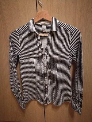 Schwarz weiße Bluse mit Streifen