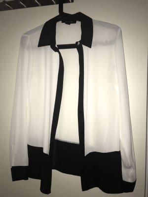schwarz-weiße Bluse von Atmosphere Gr.38