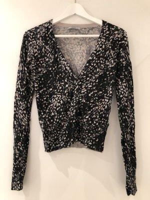 schwarz/weiße Bluse von H&M mit V-Ausschnitt