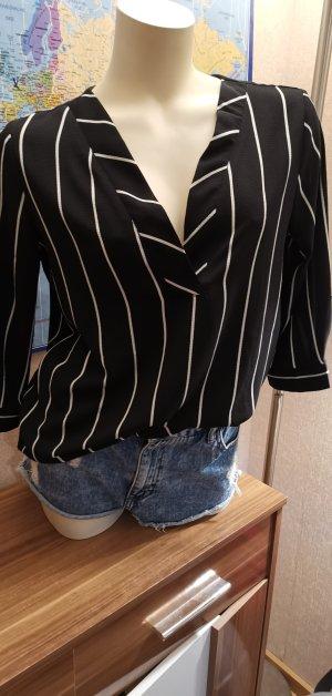 schwarz weiße Bluse von Jacqueline de Yong Gr 38