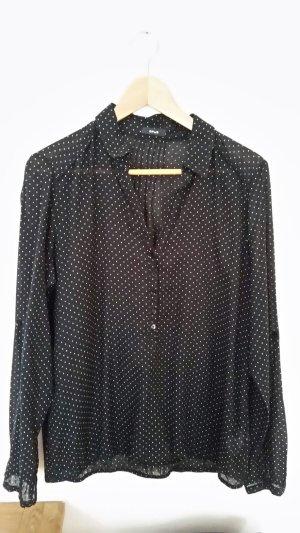 schwarz weiße Bluse von Opus