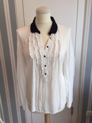Schwarz/Weiße Bluse von Zara