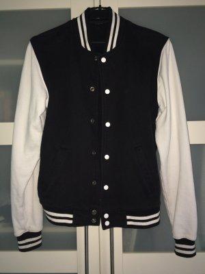 Schwarz weiße College Jacke