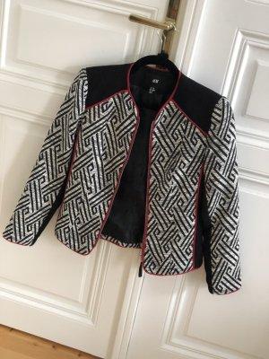 Schwarz-weiße gemusterte Jacke von H&M