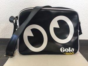 Schwarz-weisse Gola Tasche