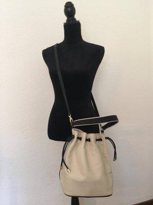 Schwarz Weiße H&M Tasche