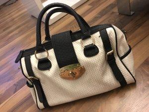 schwarz/weiße Handtasche