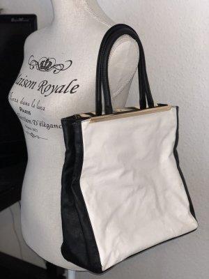 Schwarz weiße Handtasche Retro Optik New Yorker