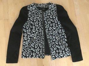 schwarz weiße Jacke / Blazer von Mango