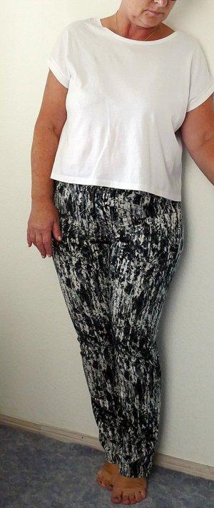 Schwarz-Weiße Jeans