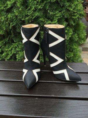 Schwarz weiße justfab Stiefeletten Gwen Stefanie Collection neu