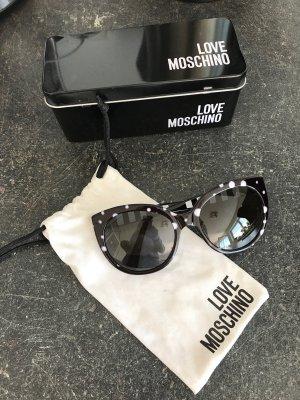 Schwarz/ weiße Love Moschino Sonnenbrille