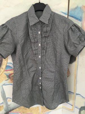 Aglini Checked Blouse white-black polyester