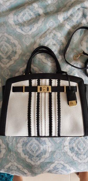 schwarz/weisse Original Michael Kors Handtasche