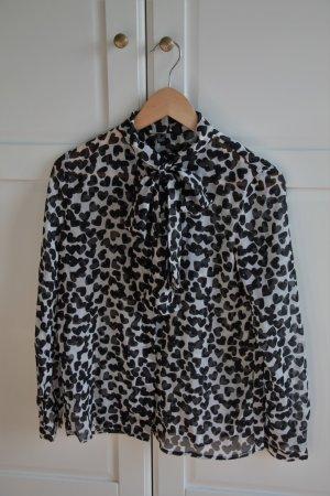 Schwarz Weiße Schluppen-Bluse von Mango