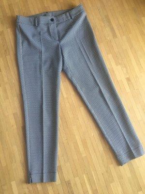 Maryley Pantalon à pinces blanc-noir viscose