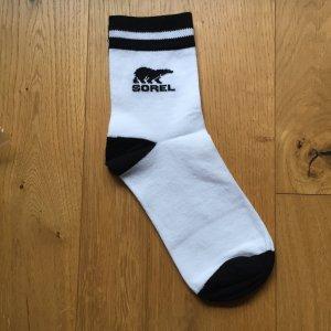 Schwarz-weiße Sorel Socken NEU