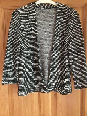 H&M Wollen Jack zwart-wit