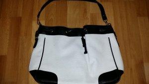 schwarz-weiße Tasche/ Handtasche