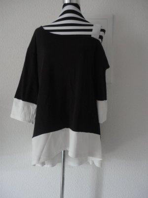 Schwarz-weiße Tunika in Gr. XL