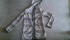 Hooded Vest black-white