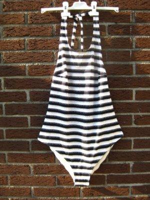 schwarz-weißer Badeanzug H & M, NEU, Größe 44