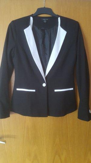 schwarz/weißer Blazer