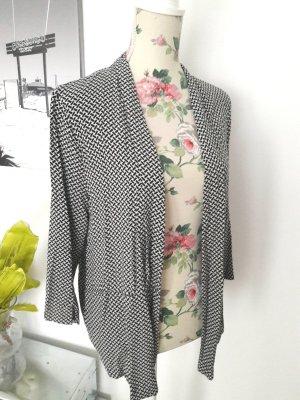 Schwarz-weißer Jersey Blazer