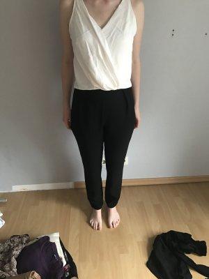 Schwarz-Weißer Jumpsuit