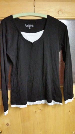 Schwarz / weißer Pullover