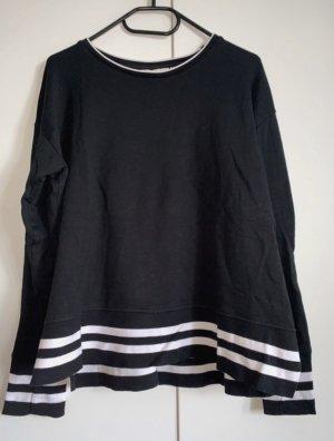 Schwarz/weißer Pullover von H&M