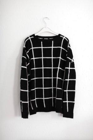 Schwarz weißer Pullover von Missguided Gr. 36/38 Blogger Vintage Stil