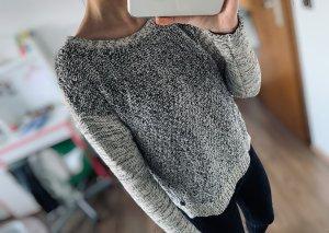 Schwarz weißer Pullover von Tom Tailor