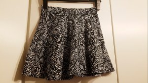 Clockhouse Falda de talle alto blanco-negro