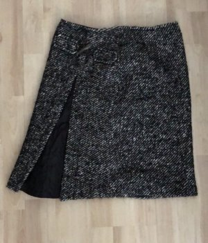 Blacky Dress Gebreide rok wit-zwart