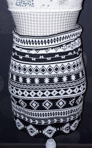 Tom Tailor Gebreide rok wit-zwart