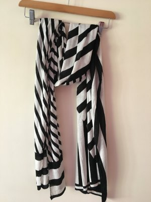 Schwarz Weißer Schal