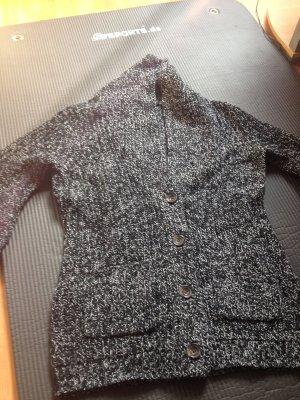Schwarz weißer strickcardigan