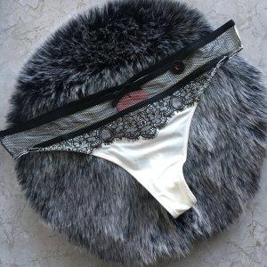 Hunkemöller Pantalone pigiama bianco-nero