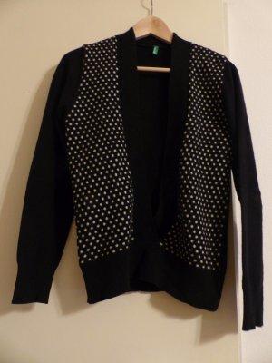 schwarz weißer Wollpullover von Benetton