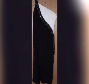 Schwarz/weißes Abendkleid
