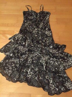 Schwarz/ weißes Abiball Kleid Gr. 36