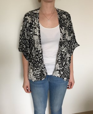 H&M Blouse Jacket white-black viscose