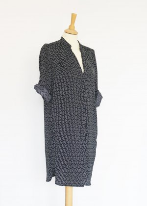 Schwarz weißes Blusenkleid von Mango M Tunika