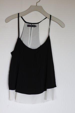 schwarz/weißes Even&Odd Top, Größe M
